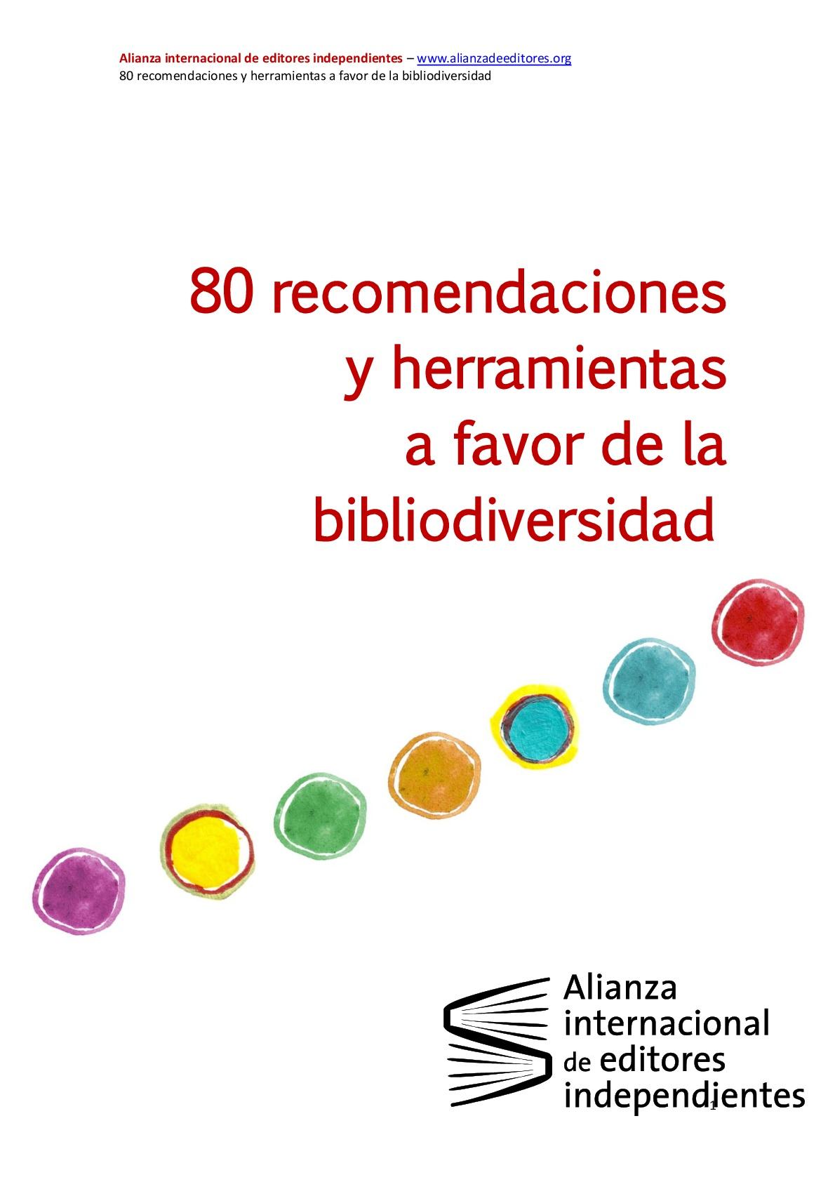80 recomendaciones y herramientas a favor de la bibliodiversidad
