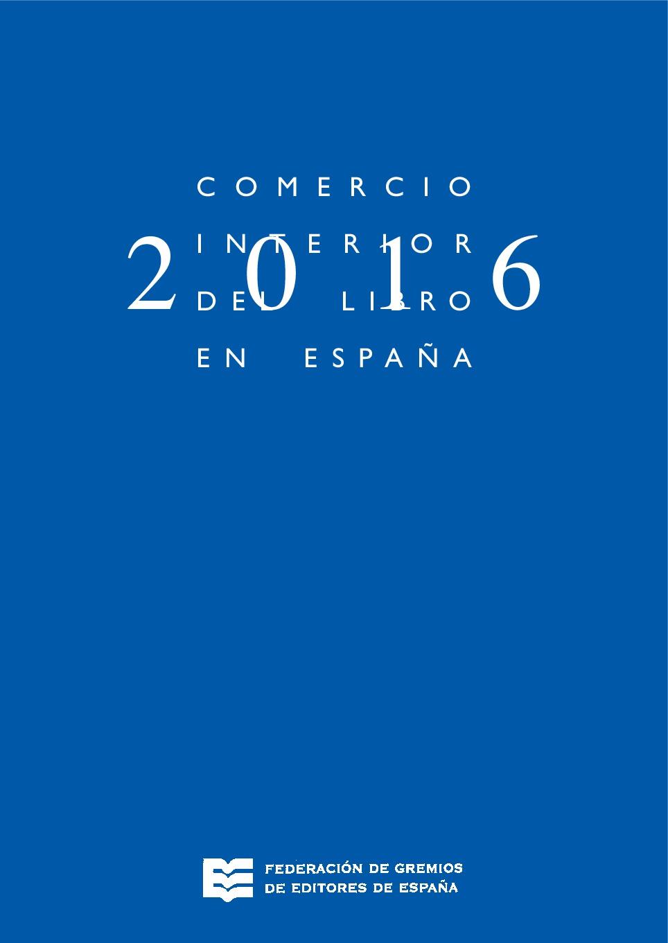 Comercio interior del libro en España 2016