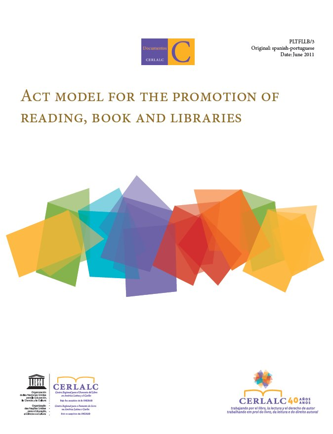Act Model for the Promotion of Reading, Book and Libraries
