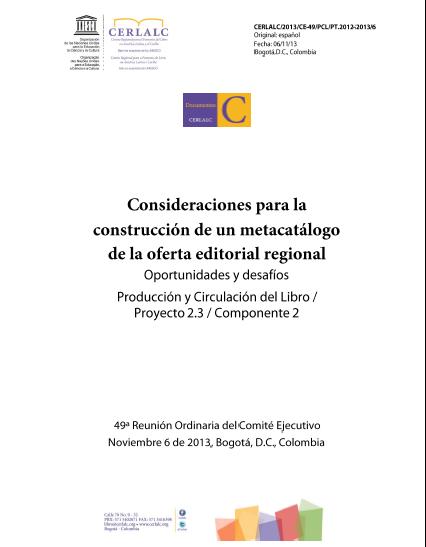 Consideraciones para la construcción de un metacatálogo de la oferta editorial regional