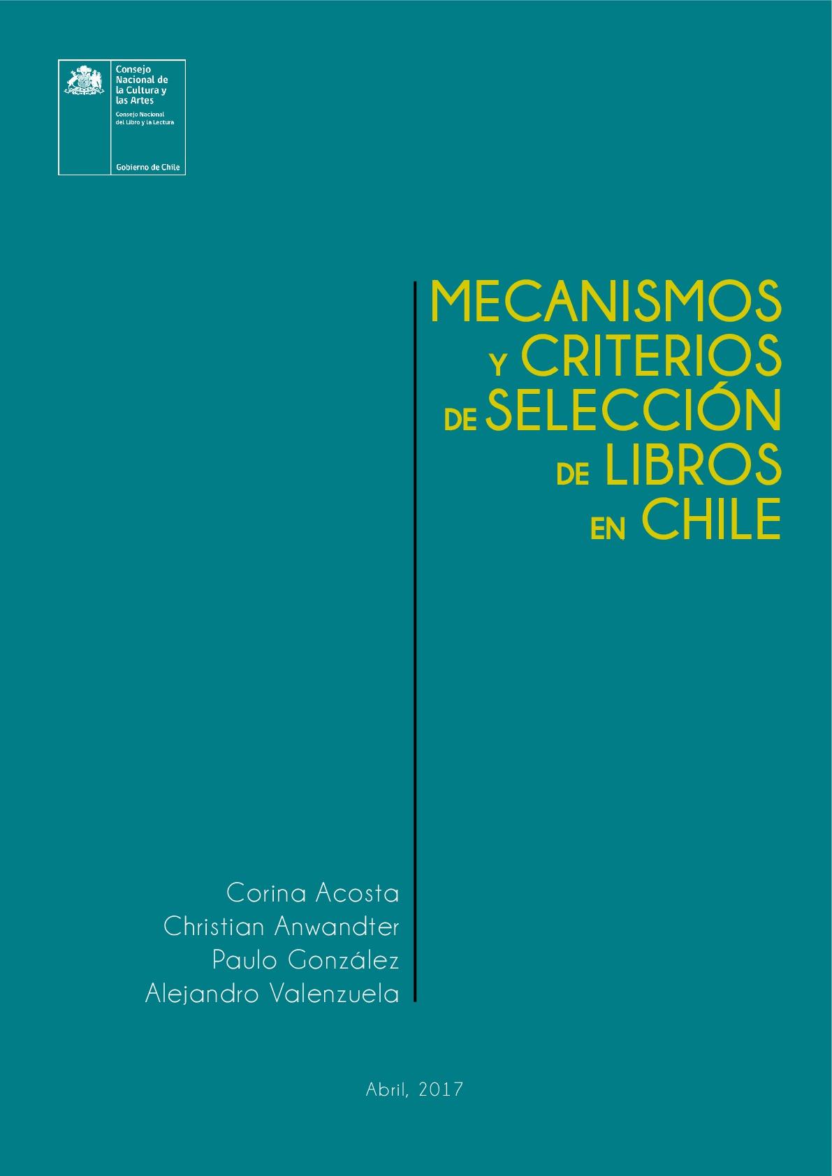 Mecanismos y criterios de selección de libros en Chile