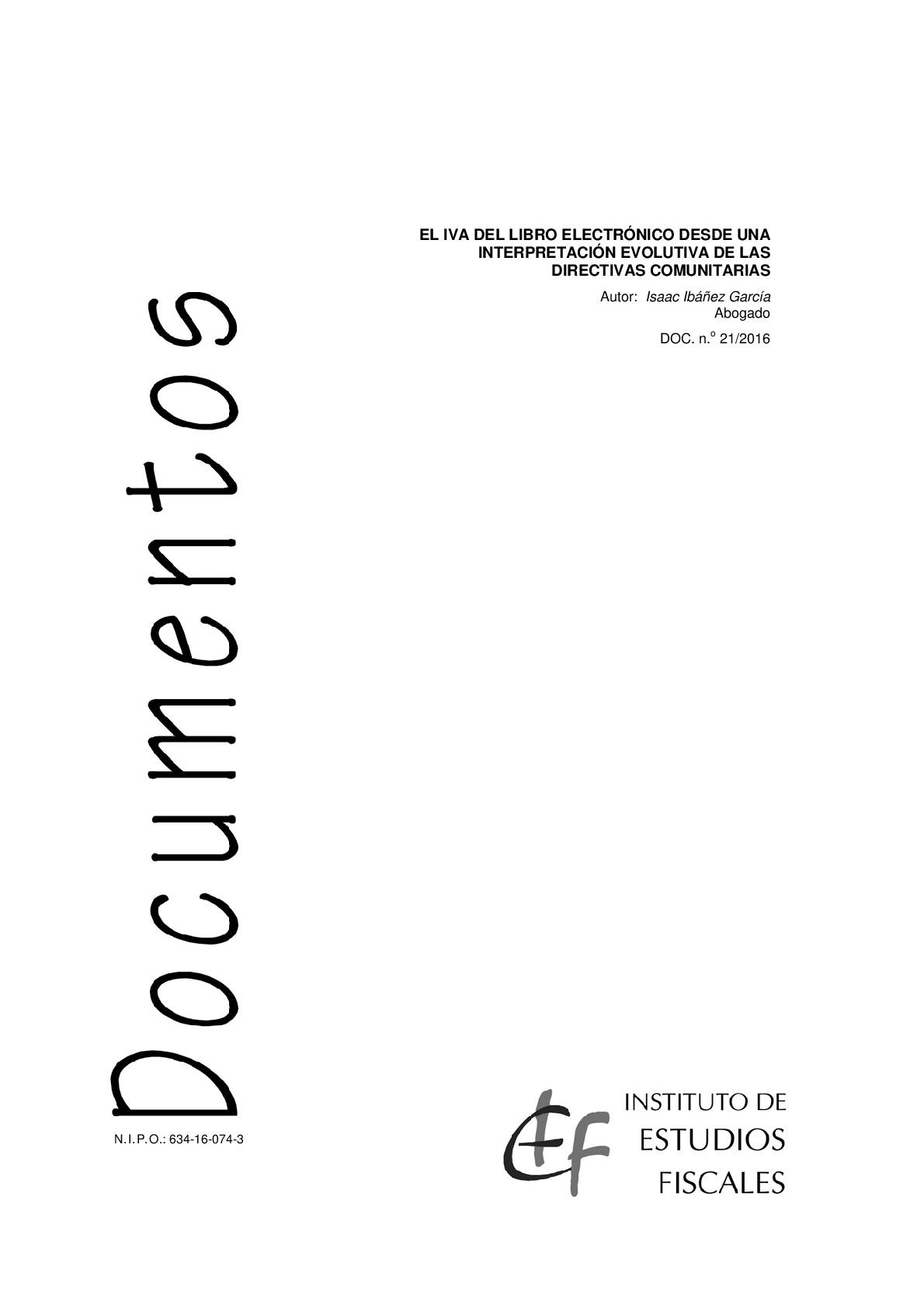 El IVA del libro electrónico desde una interpretación evolutiva de las directivas comunitarias