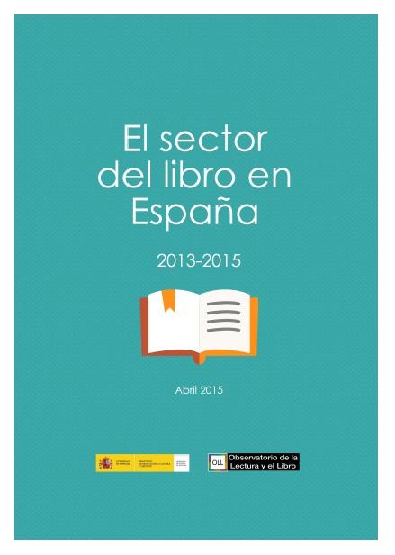 El sector del Libro en España 2013-2015