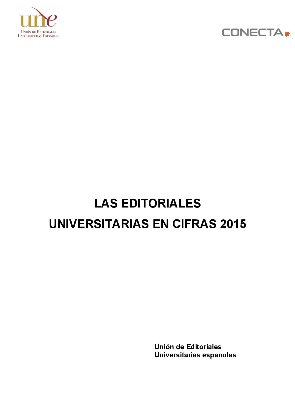 Las editoriales universitarias en cifras 2015
