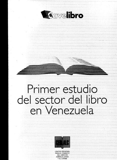 Primer estudio del sector del Libro en Venezuela 2005