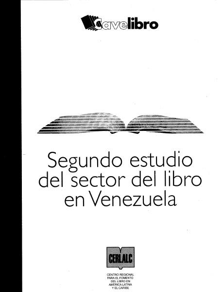 Segundo estudio del sector del Libro en Venezuela 2006