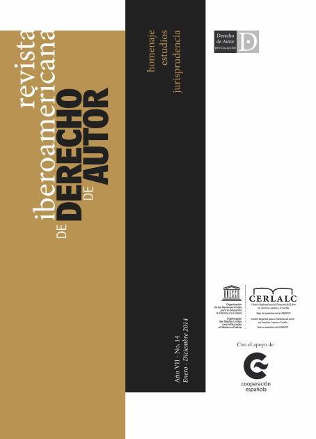 Revista Iberoamericana de Derecho de Autor 14