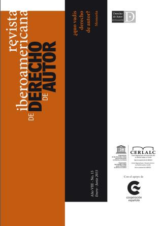 Revista Iberoamericana de Derecho de Autor 15