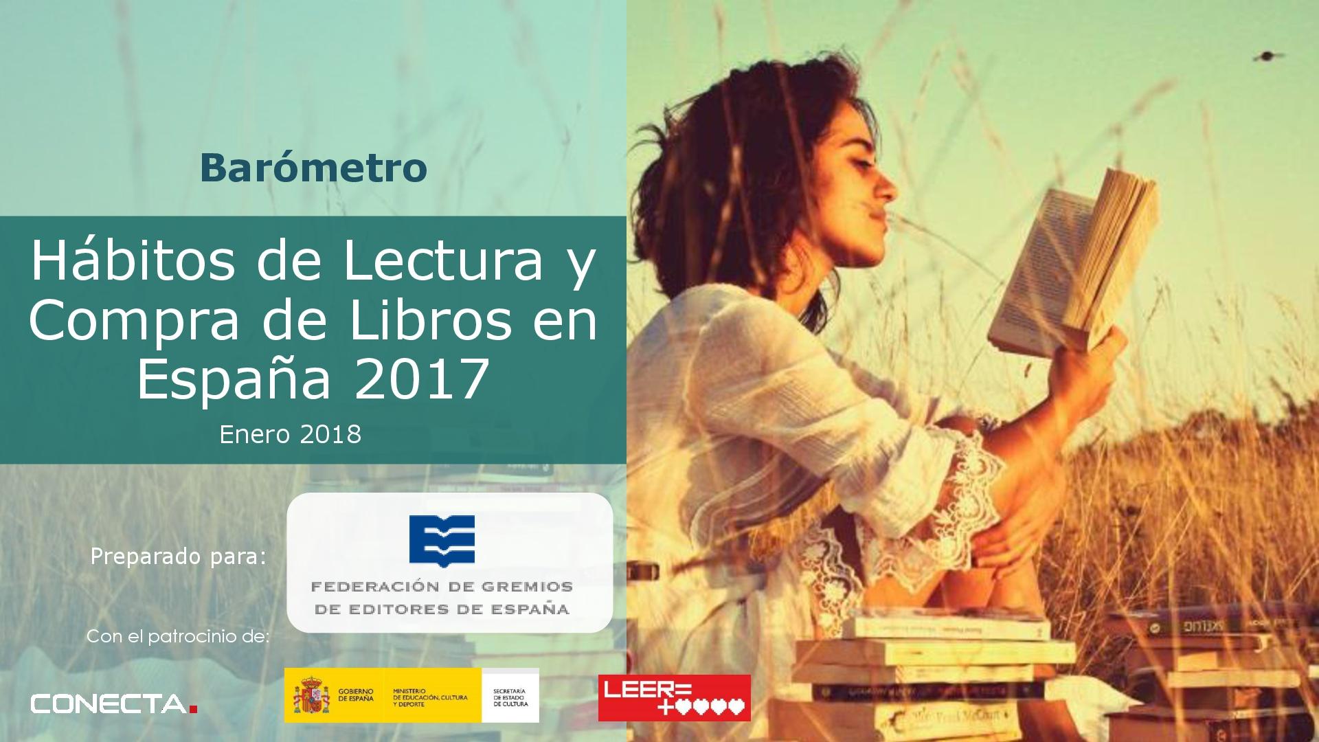 Hábitos de lectura y compra de libros en España 2017
