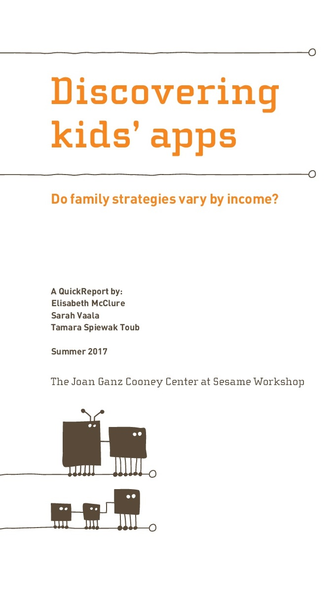 Discovering Kids´Apps. Do Family Strategies Vary by Income?