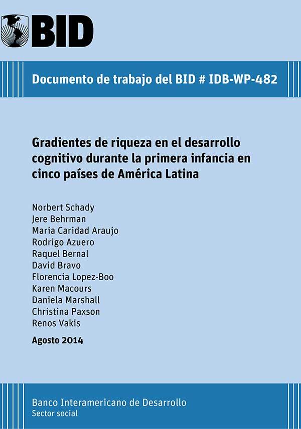 Gradientes de riqueza en el desarrollo cognitivo durante la primera infancia en cinco países de América Latina