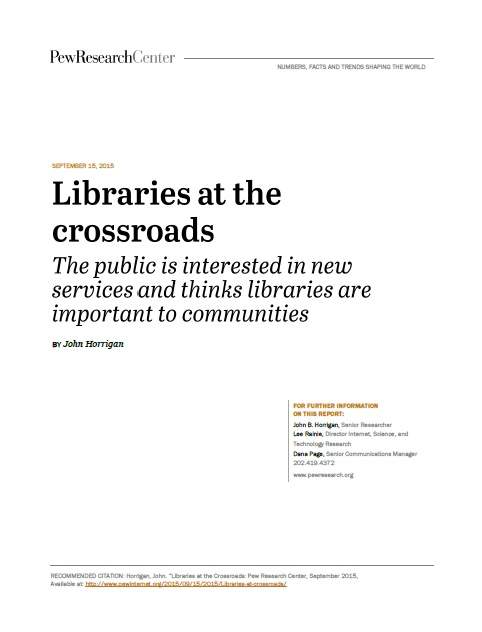 Libraries at the Crossroads