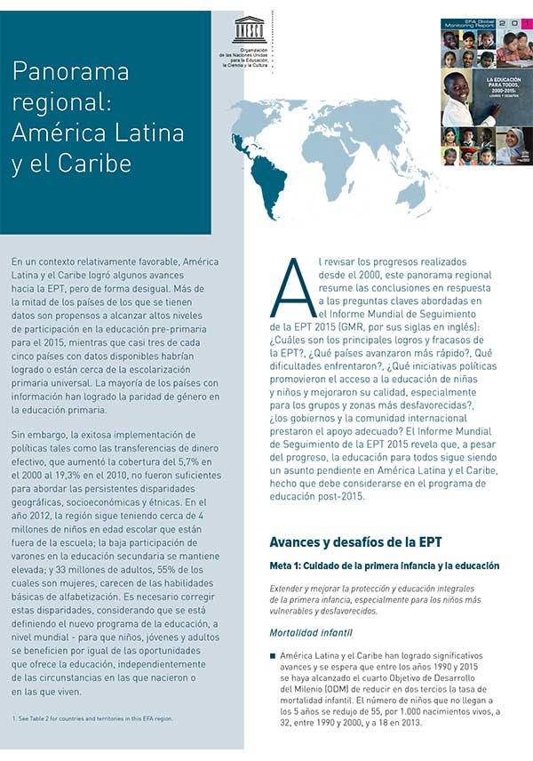 Panorama regional: América Latina y el Caribe