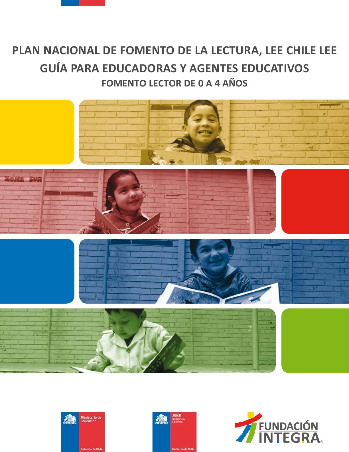 Guía para educadoras y agentes educativos: fomento lector de 0 a 4 años