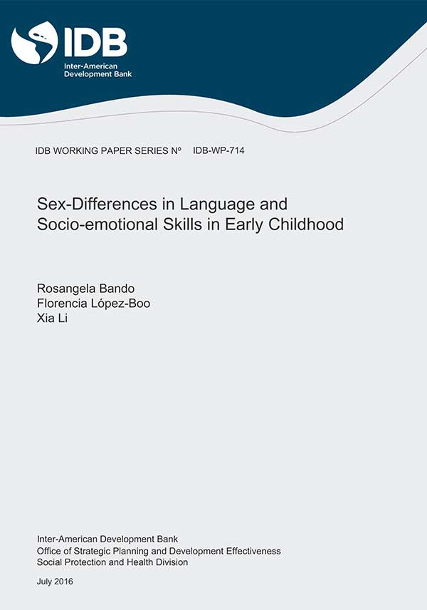 Sex Differences in Language and Socio-Emotional Skills in Early Childhood