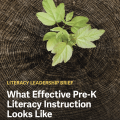 What Effective Pre-K Literacy Instruction Looks like