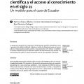 La industria de la información científica y el acceso al conocimiento en el siglo 21 Un modelo para el caso de Ecuador.