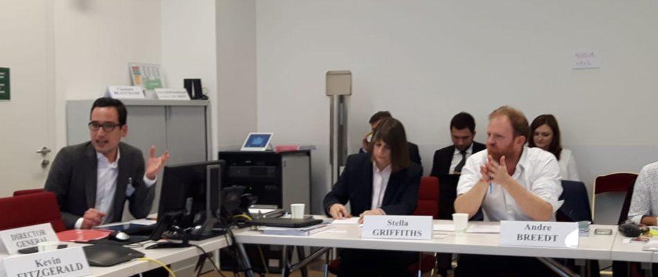 Apresentação da investigação na sede da OMPI em Genebra