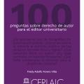 100 preguntas sobre derecho de autor para el editor universitario
