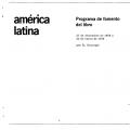 Programa de fomento del libro América Latina  Misión 27 de diciembre de 1968 a 25 de enero de 1969