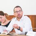 Reunión con Juan Fernando Velasco, ministro de Cultura y Patrimonio de Ecuador
