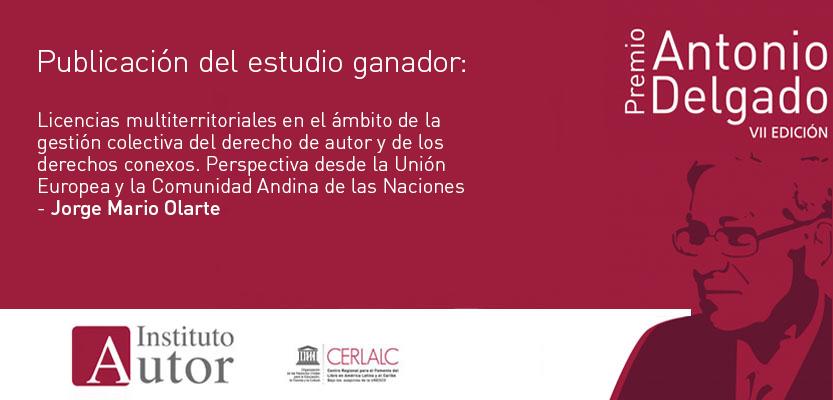 Publicación del estudio ganador de la 7ª edición del Premio Antonio Delgado