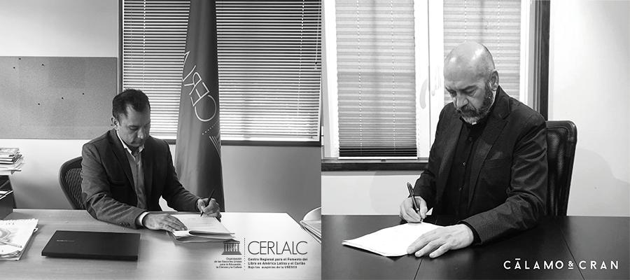 Convenio de oferta formativa entre el Cerlalc y Cálamo y Cran
